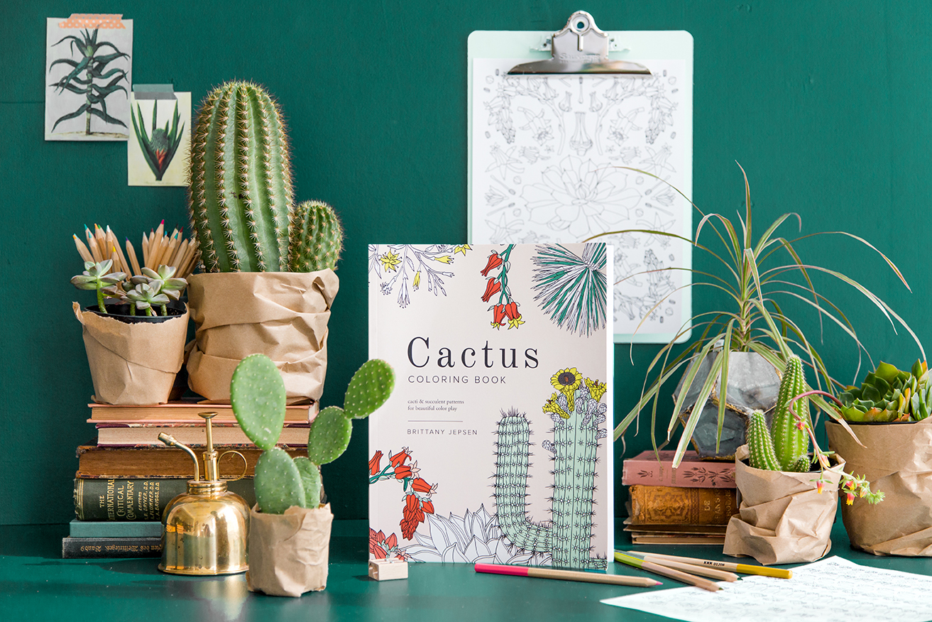 Cactus Coloring Book by Brittany Jepsen