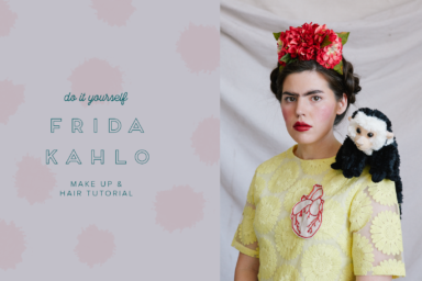 Frida Kahlo make up and hair tutorial