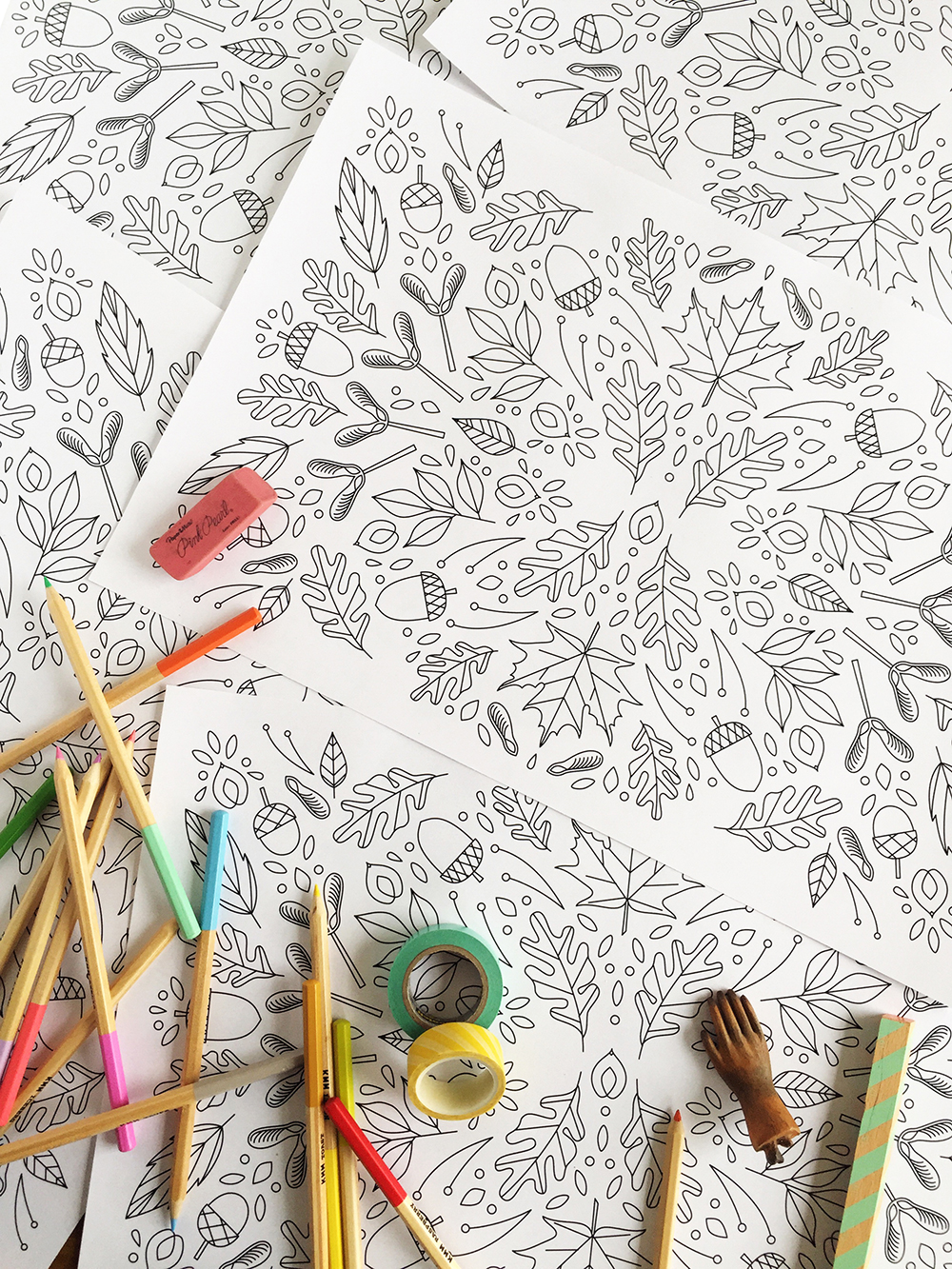 Printable Coloring Thanksgiving Placemats - The House That Lars Built