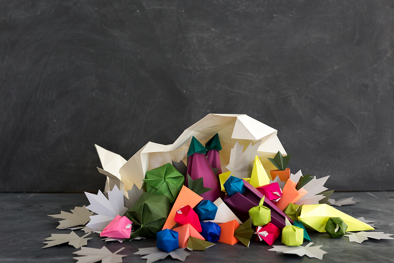 Origami-cornucopia-Thanksgiving