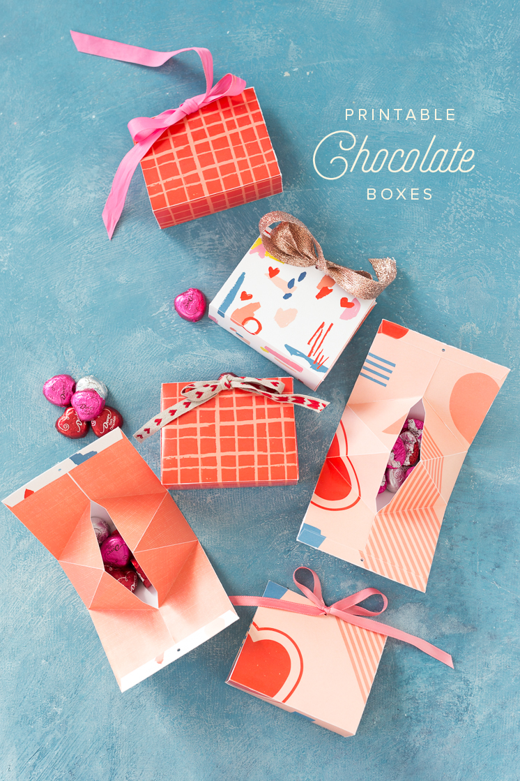 Printable Valentine\'s Day Candy Boxes - The House That Lars Built