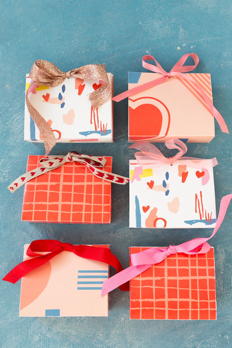 Dove Valentine's Day printable Chocolate Boxes
