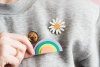 DIY Paper Rainbow Brooch