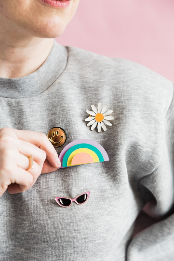 DIY Paper Rainbow Brooch - The House That Lars Built