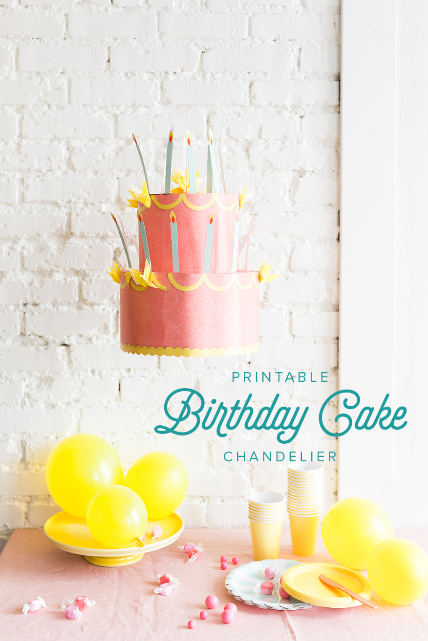 DIY Printable birthday cake