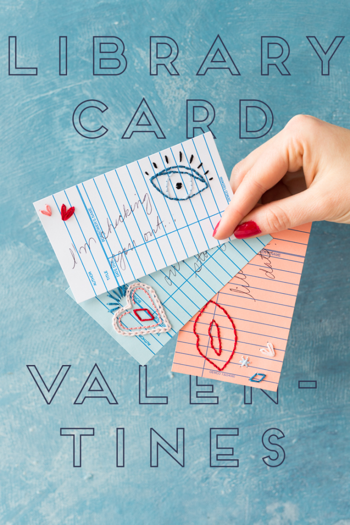 Make a Valentine from a library card