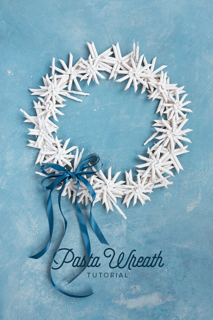 DIY Pasta wreath