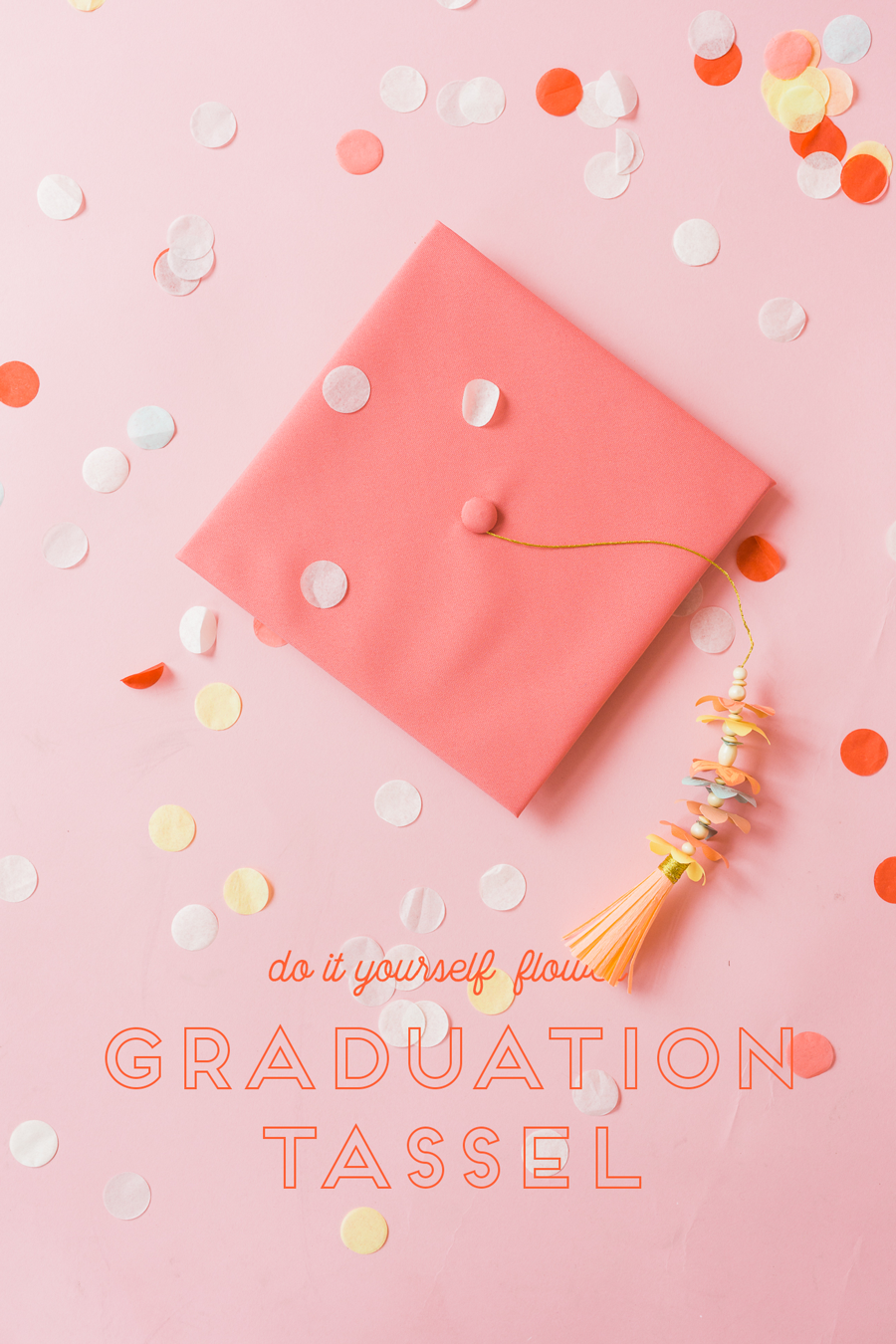 Paper flower graduation tasel