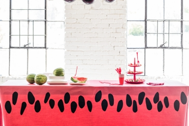 Paper Watermelon Tablecloth The House That Lars Built