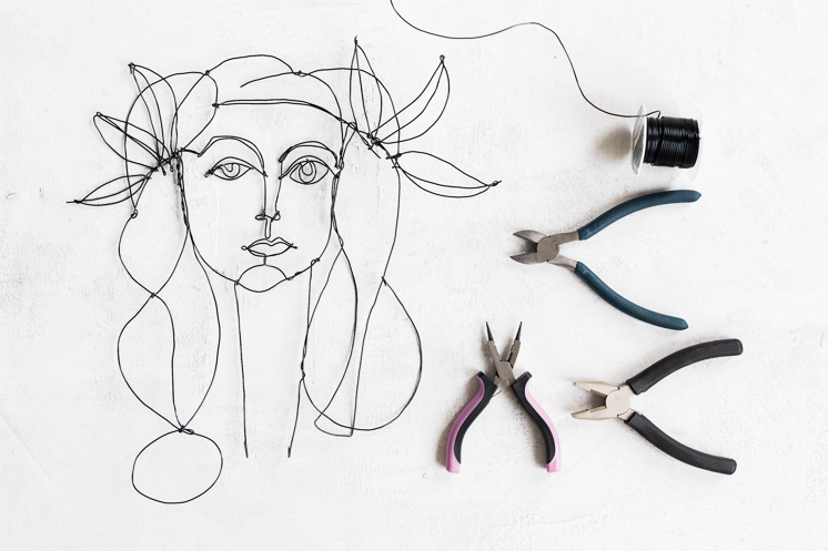 Line Art Portrait : Picasso inspired diy wire portrait the house that lars built