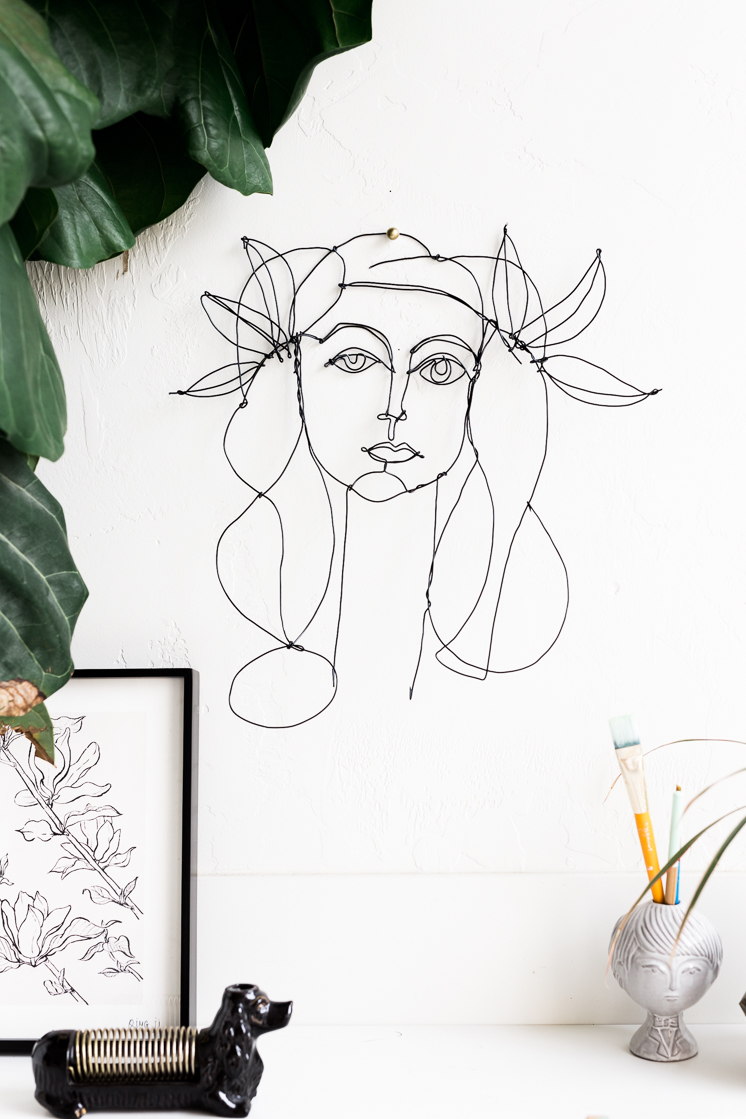 Picasso Inspired DIY Wire Portrait - The House That Lars Built