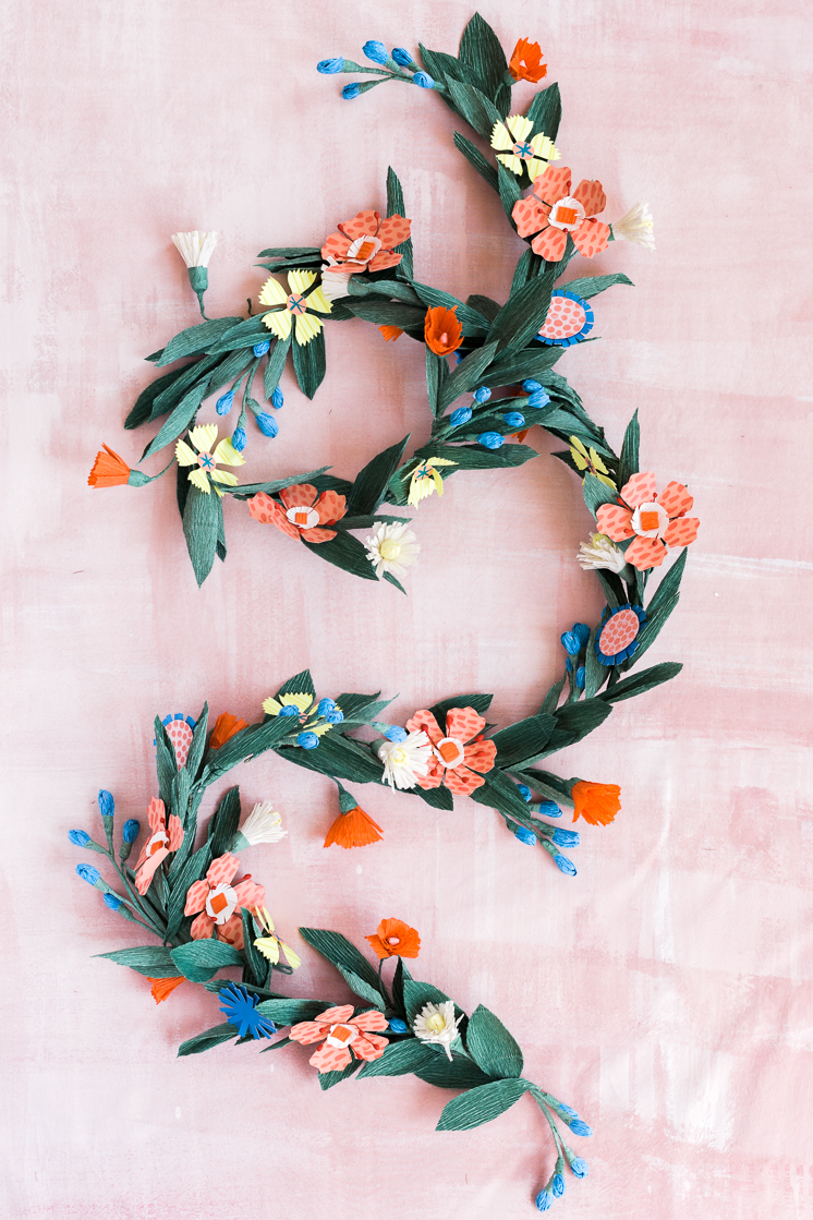 DIY summer flower garland