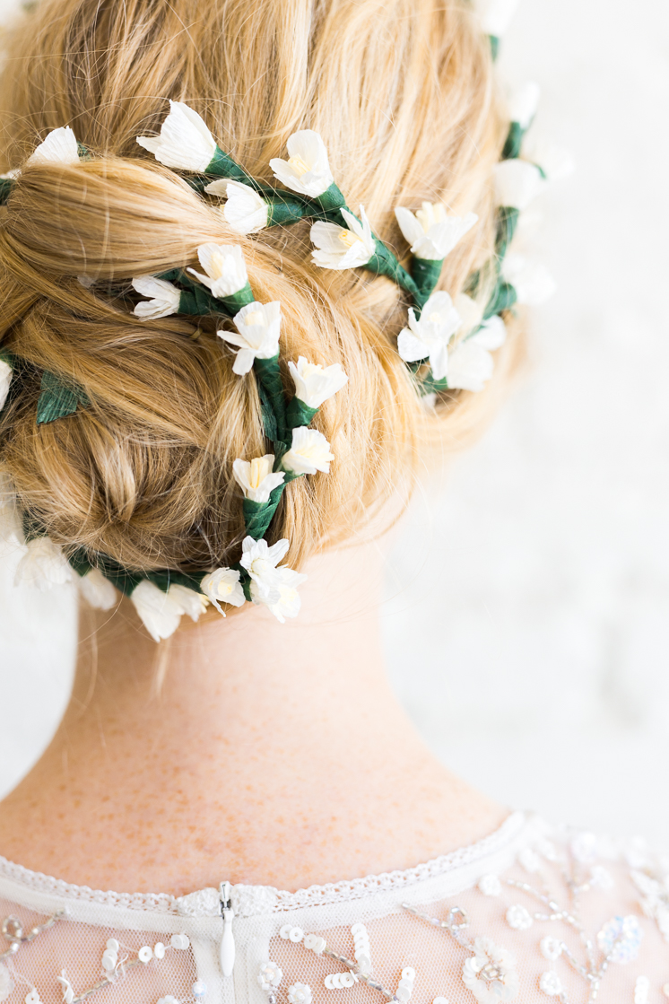 Paper Flower Bridal Hair Piece