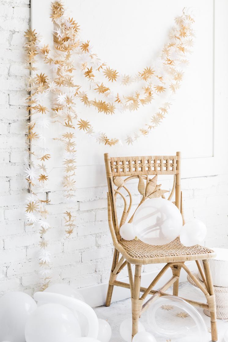 Tea stained Flower Garland