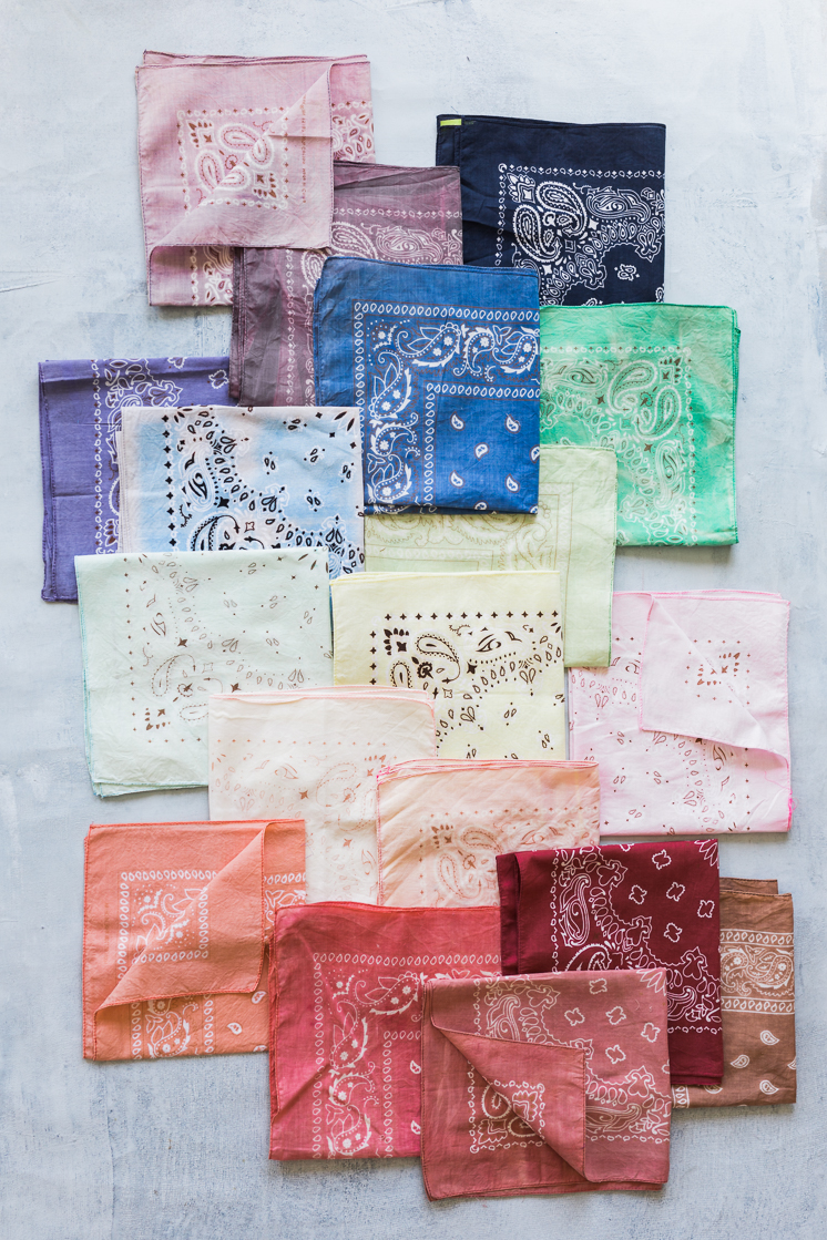 DIY Dyed Handkerchiefs