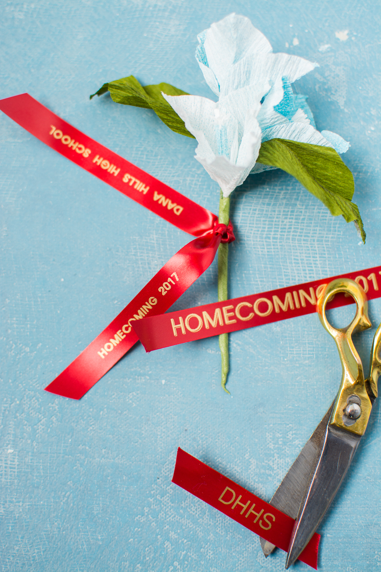 Paper Flower Corsage And Customized Ribbon The House That Lars Built