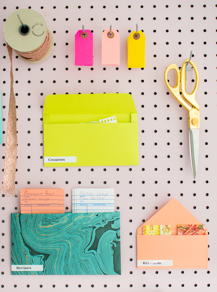 Rainbow Envelope Organization System