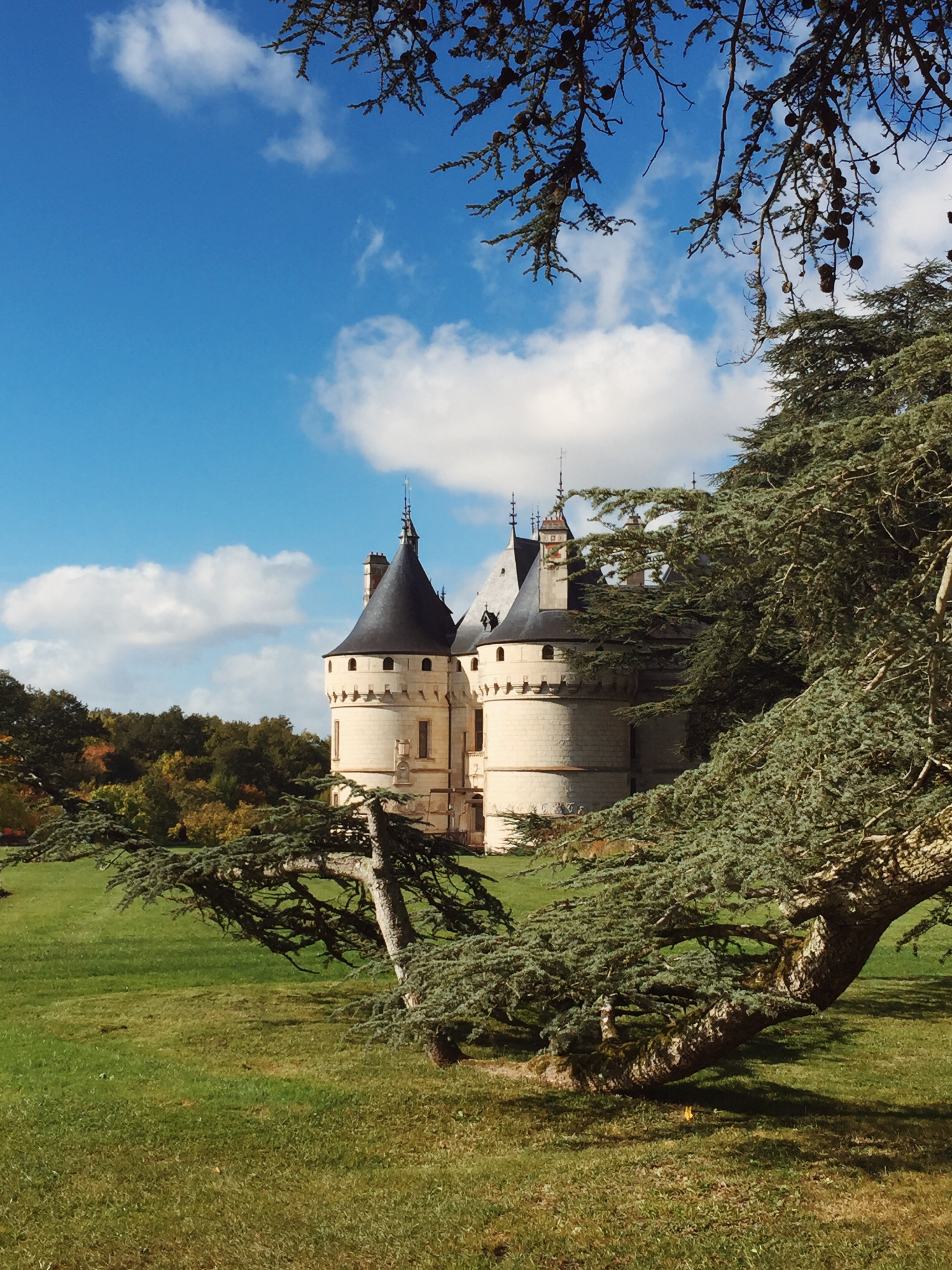 Autumn decorating at Chateau Chaumont