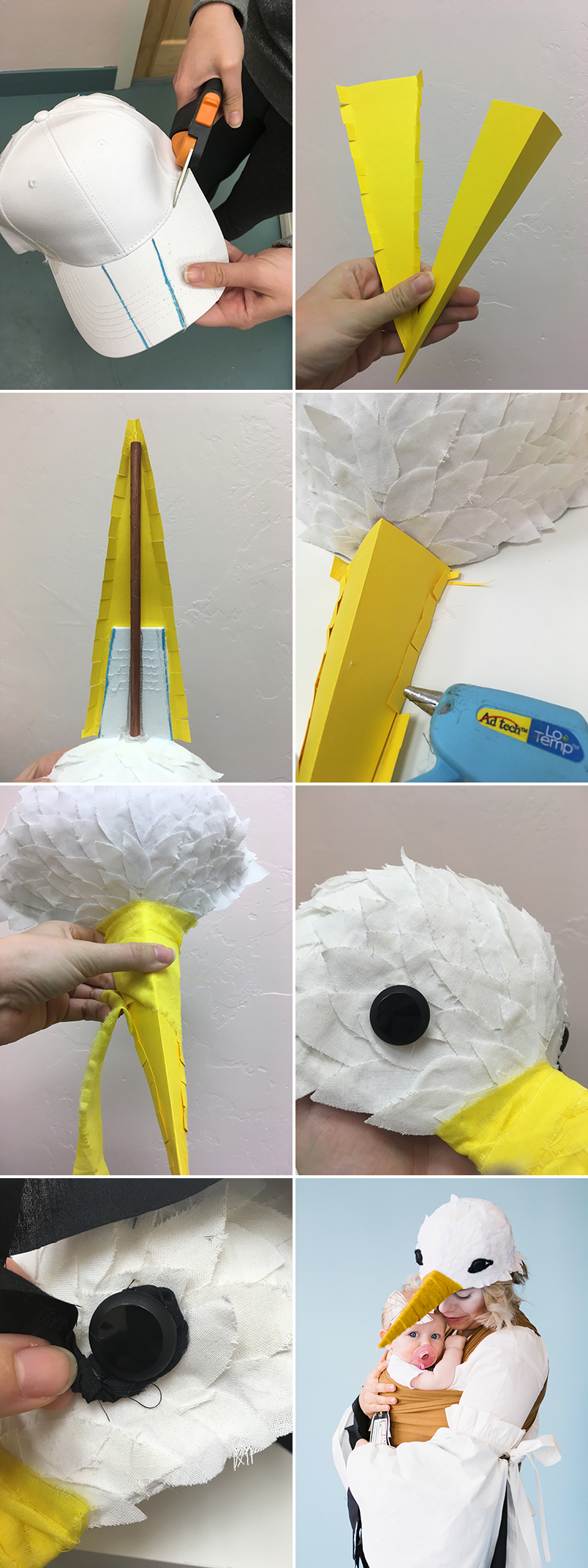 How to make a stork hat