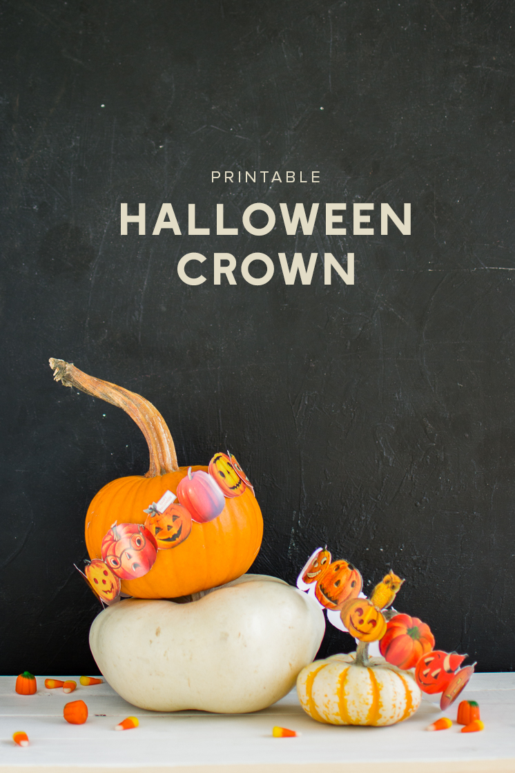 Printable Halloween crown