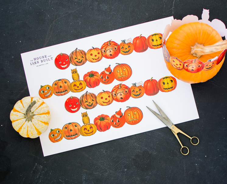 Printable Pumpkin Crown