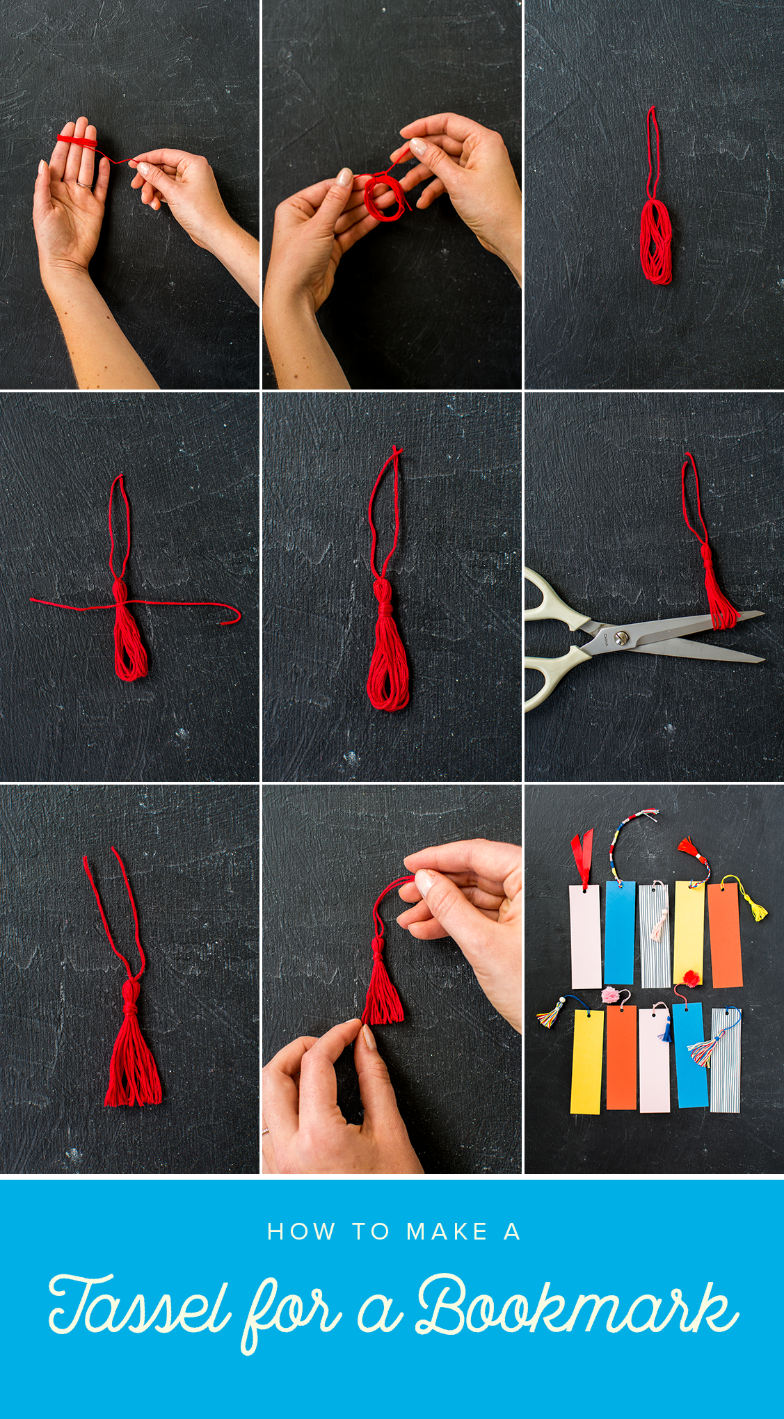 How to make a tassel for a bookmark