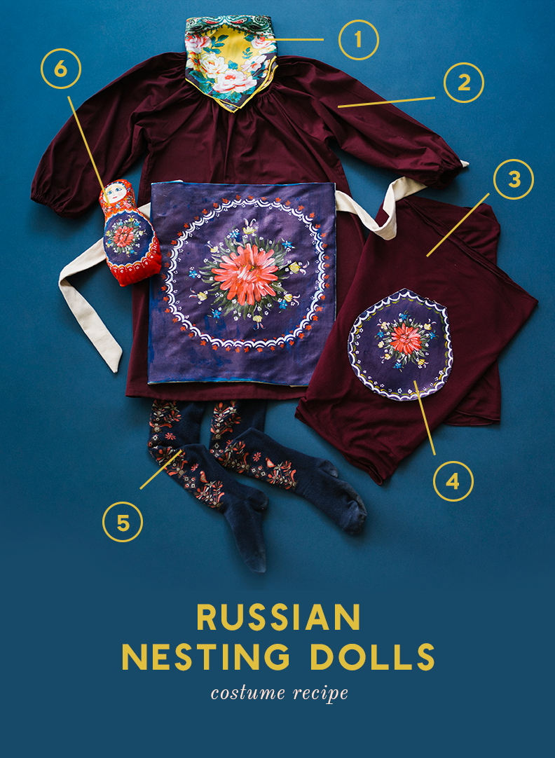 Russian nesting doll costume recipe