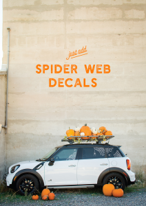 Add Spider web decals to your car