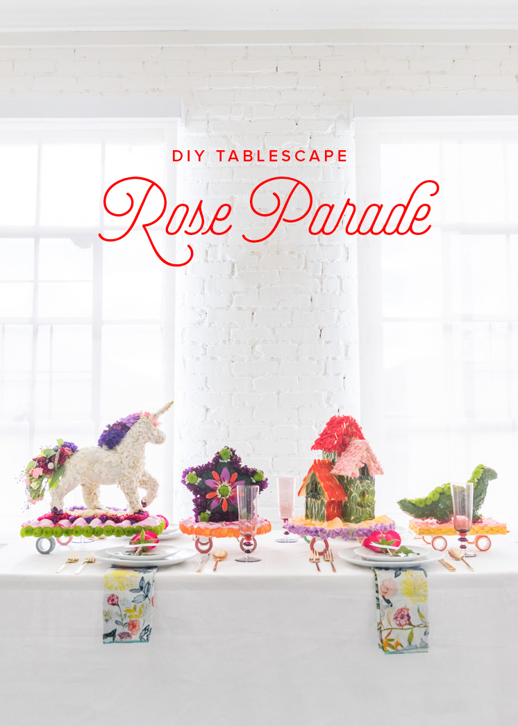 DIY Rose Parade tablescape