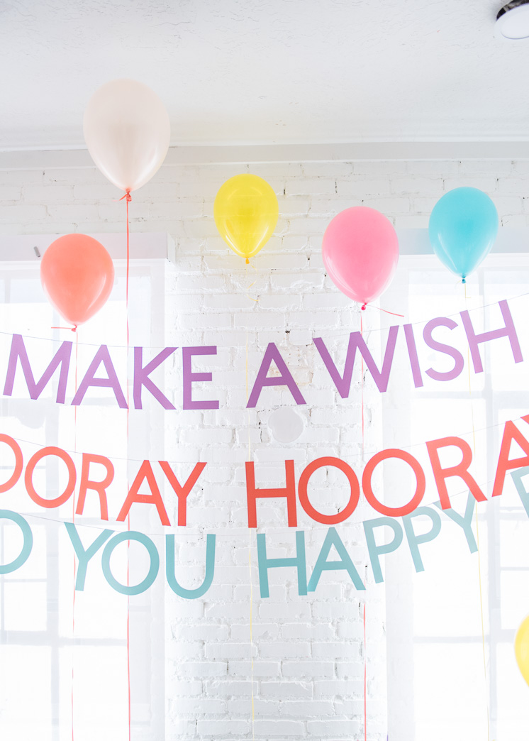 DIY Happy Birthday Banners