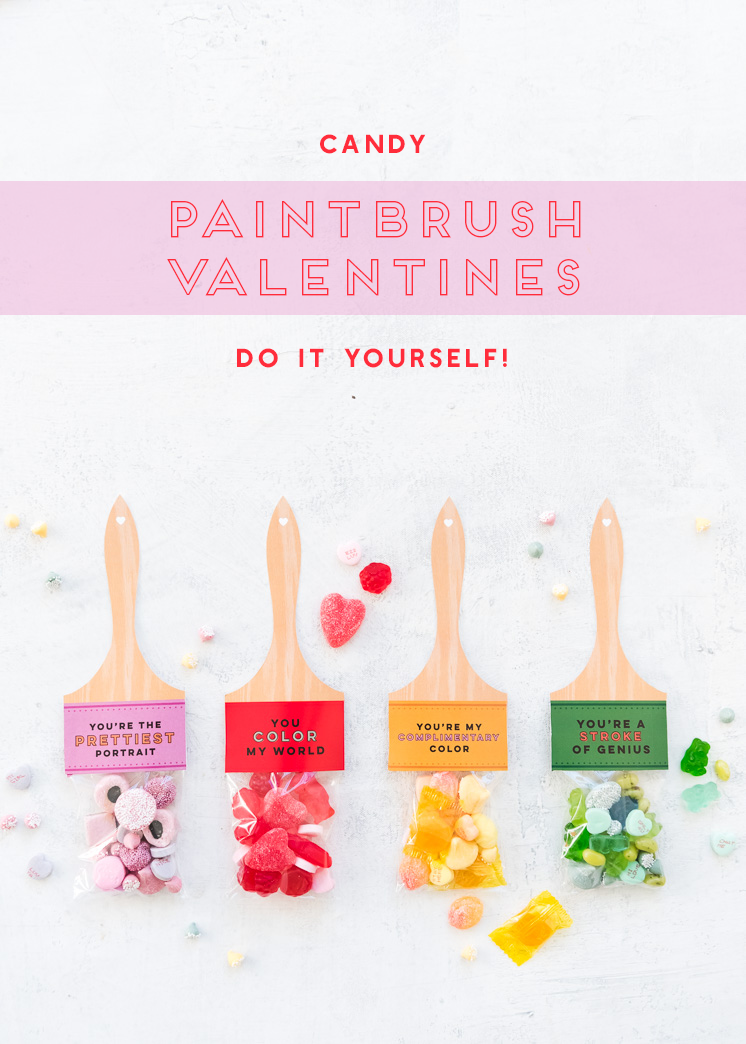 Printable Paintbrush Valentine