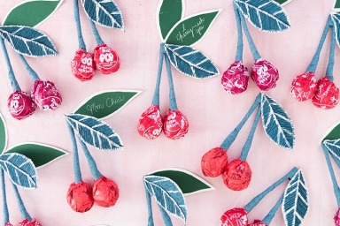 Tootsie Pop Cherry Valentines