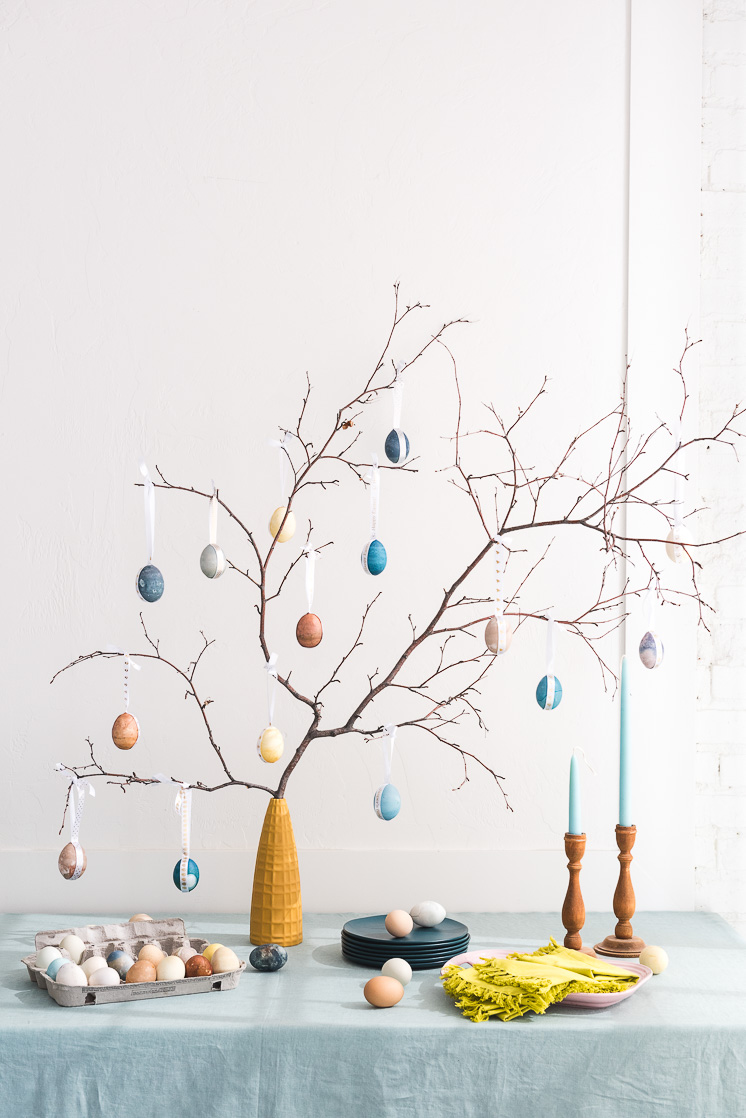 Naturally Dyed Easter Egg Tree