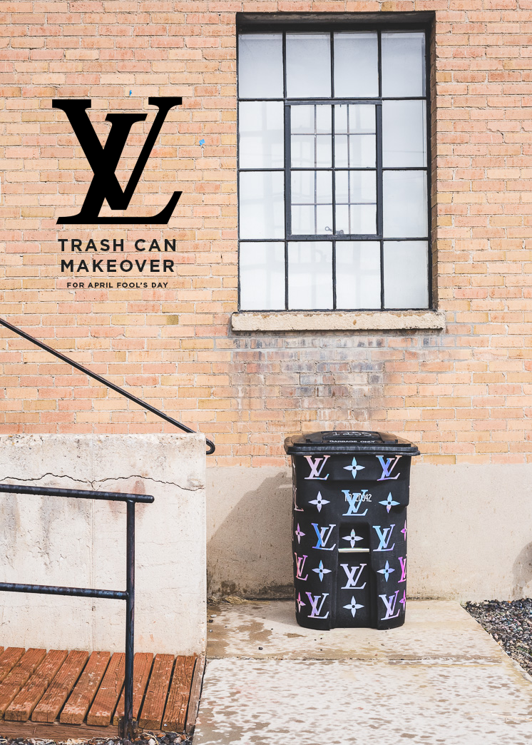 DIY Louise Vuitton trash can