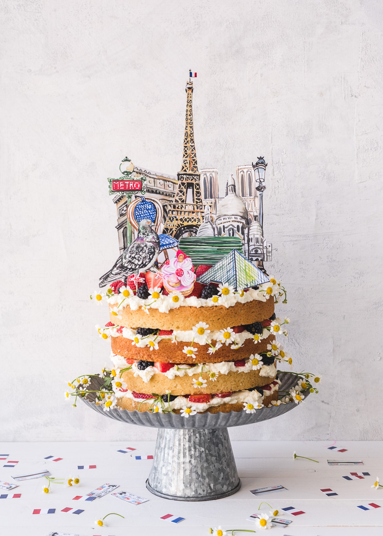 Paris Cake Topper and Confetti
