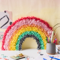 DIY Tissue Paper Rainbow
