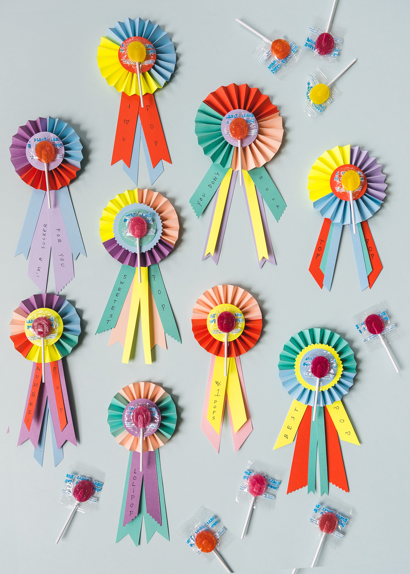 father s day lollipop prize ribbons the house that lars built