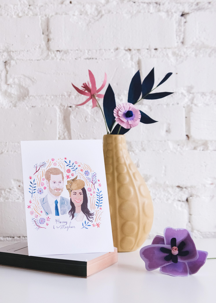 Royal wedding commemorative stationery set