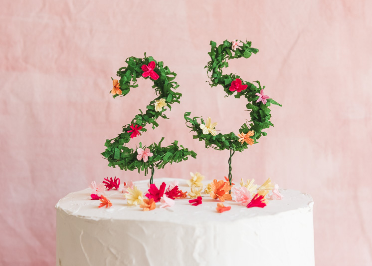 Floral Numbers Birthday Cake Topper The House That Lars Built