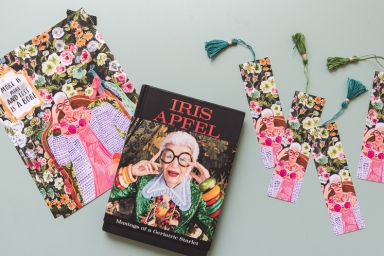Iris Apfel June Book Club Artwork