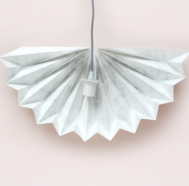 Diy origami lampshade the house that lars built origami lampshade from paper craft home aloadofball Image collections