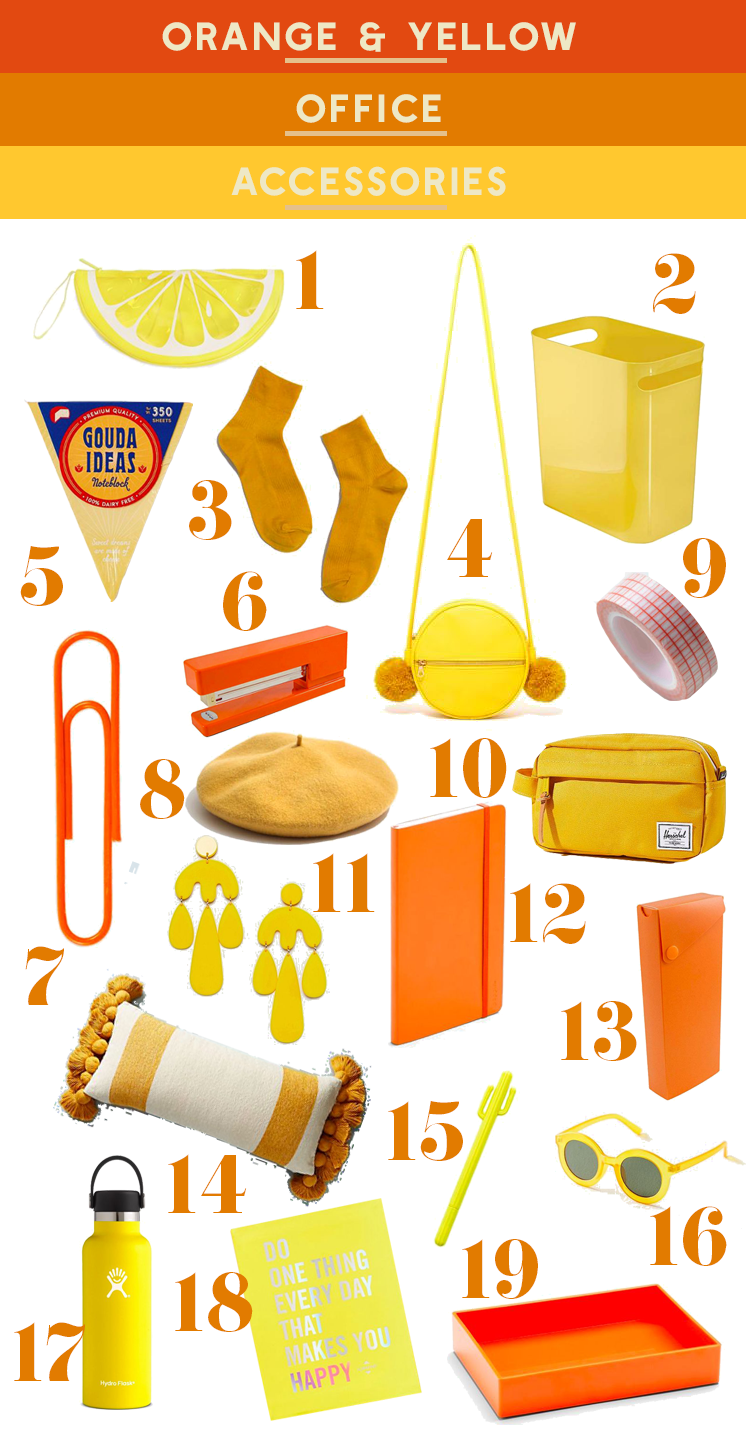 Our Office Supply Favorites Continue With Yellow And Orange As The Main Attractions Is My Favorite Color Has Been For A While Now