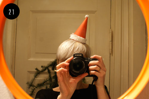21st day of Christmas crafts: santa party hat