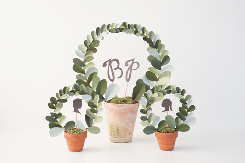 DIY: Paper leaf topiary for Etsy