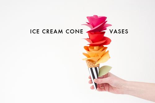 DIY Ice cream cone vases