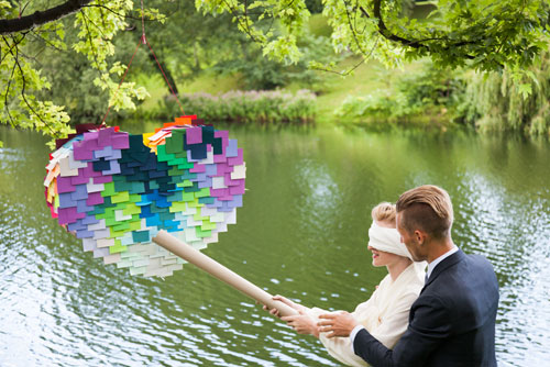 How to Make a Post-It Heart Piñata