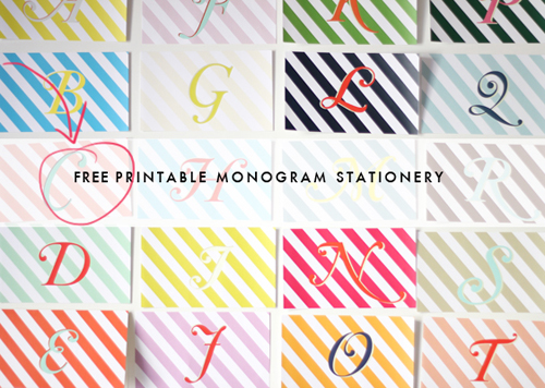 picture regarding Printable Monogram referred to as Printable monogram stationery - The Area That Lars Developed