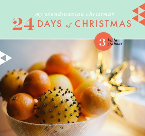 My Scandinavian Christmas Day 3: Orange and Clove Pomanders