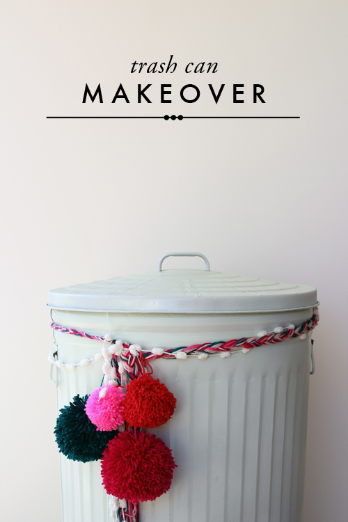 Furniture makeover: trash can