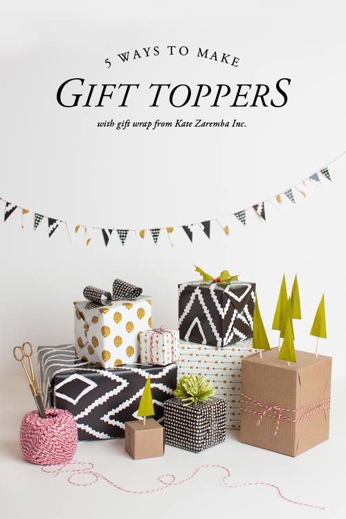 5 gift topper ideas